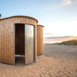 Healthmatic eco toilet on a beach