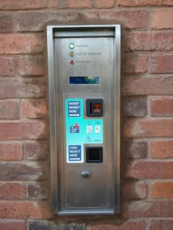 coin collection for public toilets